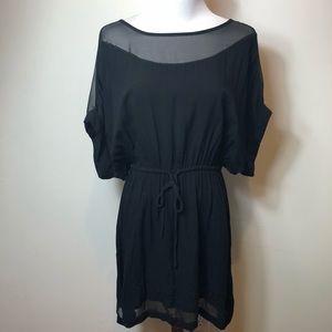 Express Black draw waist dress size M